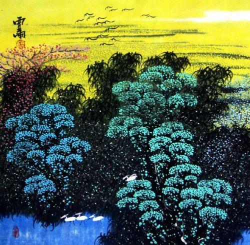 展览预告:传承与经典系列——贾雨山水画作品展_图1-5