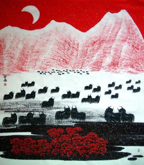 展览预告:传承与经典系列——贾雨山水画作品展_图1-12