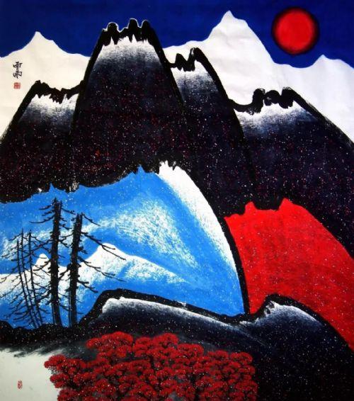 展览预告:传承与经典系列——贾雨山水画作品展_图1-13
